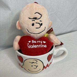 Peanuts Plush Charlie Brown Mug Be My Valentine